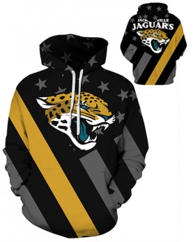 DQYDM473 3D Digital Printed NFL Jacksonville Jaguars Football Team Sport Hoodie Unisex Hoodie With Hat