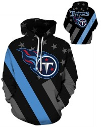 DQYDM475 3D Digital Printed NFL Tennessee Titans Football Team Sport Hoodie Unisex Hoodie With Hat