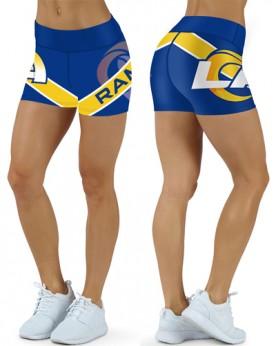 DBDQ031 High Waist NFL Los Angeles Rams Football Team 4Needle 6Thread Stitcking Sports Shorts