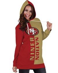 DBHS015 Pre-Order 3D Printed NFL San Francisco Niner Nation Football Team Sport Hoodie Dress