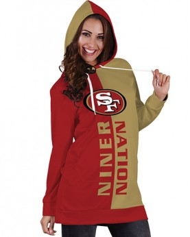 DBHS015 Pre-Order 3D Printed NFL San Francisco Niner Nation Football Team Sport Hoodie Dress