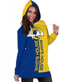 DBHS016 Pre-Order 3D Printed NFL Los Angeles Rams Football Team Sport Hoodie Dress