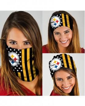 HD-DFAK017 New Style NFL Pittsburgh Steelers Football Team Multifunctional Seamless Magic Bandanas Scarfs