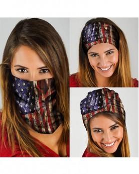 HD-MG001 New Style USA Flag Design Outdoor Sport Multifunctional Seamless Tube Magic Bandanas Scarfs
