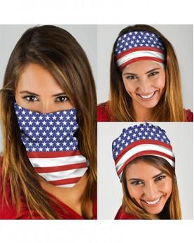 HD-MG008 New Style USA Flag Design Outdoor Sport Multifunctional Seamless Tube Magic Bandanas Scarfs