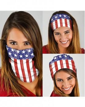 HD-MG010 New Style USA Flag Design Outdoor Sport Multifunctional Seamless Tube Magic Bandanas Scarfs