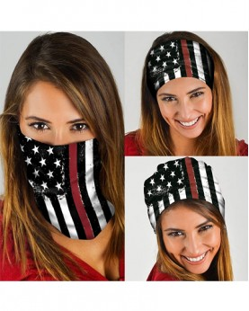 HD-MG014 New Style USA Flag Design Outdoor Sport Multifunctional Seamless Tube Magic Bandanas Scarfs