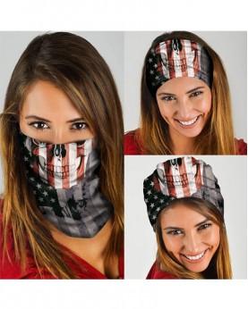 HD-MG028 New Style USA Flag Design Outdoor Sport Multifunctional Seamless Tube Magic Bandanas Scarfs