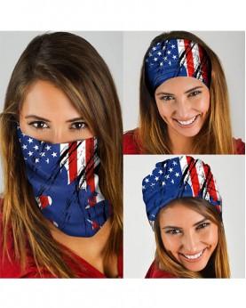 HD-MG029 New Style USA Flag Design Outdoor Sport Multifunctional Seamless Tube Magic Bandanas Scarfs