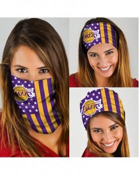 HD-DFAK0341 New Style USA NBA Los Angeles Lakers Basketball Team Multifunctional Seamless Magic Bandanas Scarfs