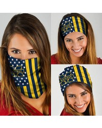 HD-DFAK0343 New Style USA NCAA Michigan Wolverines College Team Multifunctional Seamless Magic Bandanas Scarfs
