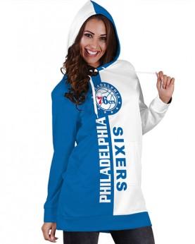 DBHS022 Pre-Order 3D Printed NBA Philadelphia 76ers Basketball Team Sport Hoodie Dress