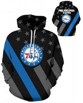 DQYDM484 Pre-Order 3D Digital Printed NBA Philadelphia 76ers Basketball Team Sport Hoodie Unisex Hoodie With Hat