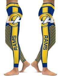 DBAQ603 High Waist NFL Los Angeles Rams Football Team 4Needle 6Thread Stitcking Sports Leggings
