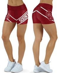 DBDQ034 Pre-Order High Waist American University Oklahoma Sooners Football Team 4Needle 6Thread Stitcking Sports Shorts