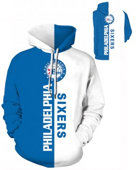 DQYDM487 Pre-Order 3D Digital Printed NBA Philadelphia 76ers Basketball Team Sport Hoodie Unisex Hoodie With Hat