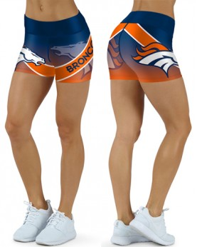 DBDQ036 High Waist NFL Denver Broncos Football Team 4Needle 6Thread Stitcking Sports Shorts