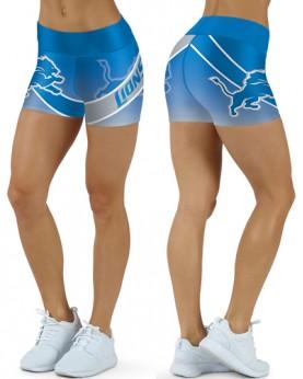 DBDQ037 High Waist NFL Detroit Lions Football Team 4Needle 6Thread Stitcking Sports Shorts