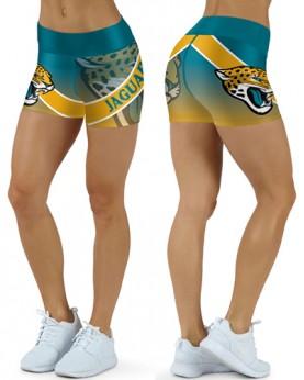 DBDQ038 High Waist NFL Jacksonville Jaguars Football Team 4Needle 6Thread Stitcking Sports Shorts