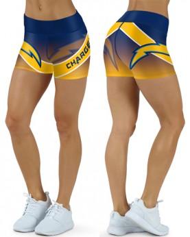 DBDQ045 High Waist NFL Los Angeles Chargers Football Team 4Needle 6Thread Stitcking Sports Shorts