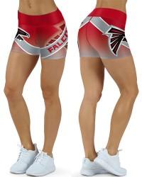 DBDQ049 High Waist NFL Atlanta Falcons Football Team 4Needle 6Thread Stitcking Sports Shorts