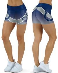 DBDQ050 High Waist NFL Indianapolis Colts Football Team 4Needle 6Thread Stitcking Sports Shorts