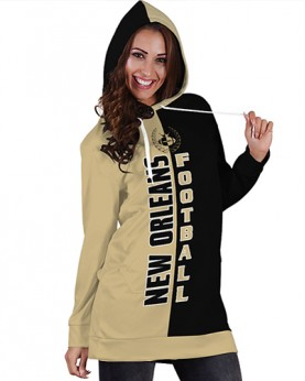 DBHS002 3D Printed NFL New Orleans Saints Football Team Sport Hoodie Dress