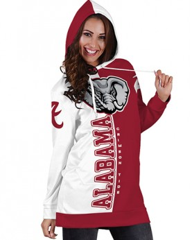 DBHS003 3D Printed American University Alabama Crimson Tides College Football Team Sport Hoodie Dress
