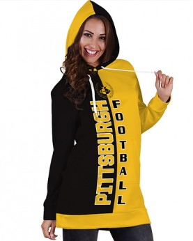 DBHS005 3D Printed NFL Pittsburgh Steelers Football Team Sport Hoodie Dress
