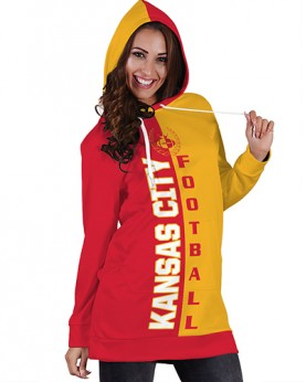 DBHS006 3D Printed NFL Kansas City Chiefs Football Team Sport Hoodie Dress