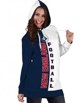 DBHS007 3D Printed NFL New England Patriots Football Team Sport Hoodie Dress