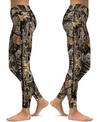 DBAQ597 High Waist Camo Mossy Oak 4Needle 6Thread Stitcking Sports Leggings