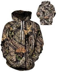 DQYDM479 3D Digital Printed Mossy OAK Sport Hoodie Unisex Hoodie With Hat